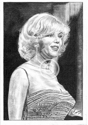 Kathy Kirby Pencil Portrait