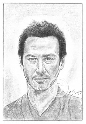Keanu Reeves Pencil Portrait