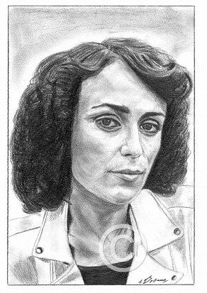 Keeley Hawes Pencil Portrait