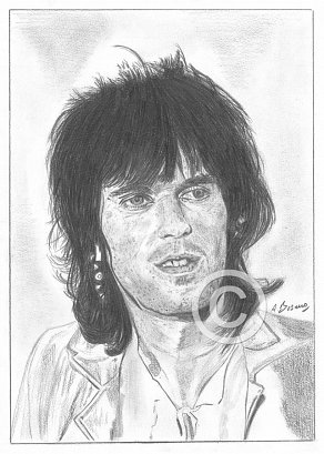 Keith Richards Pencil Portrait