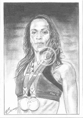 Kelly Holmes Pencil Portrait