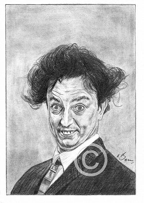 Ken Dodd Pencil Portrait
