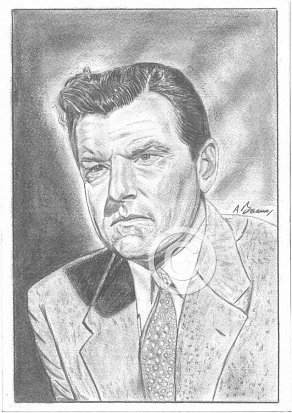 Kenneth More Pencil Portrait