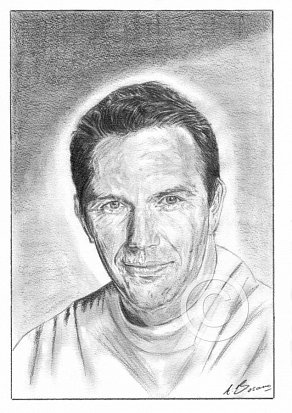 Kevin Costner Pencil Portrait