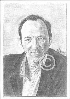 Kevin Spacey Pencil Portrait