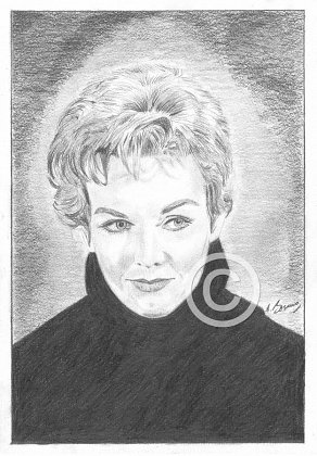 Kim Novak Pencil Portrait