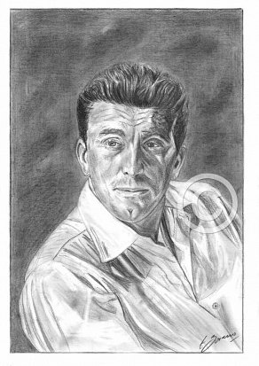 Kirk Douglas Pencil Portrait
