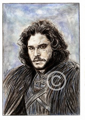 Kit Harington Pencil Portrait