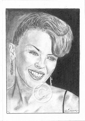 Kylie Minogue Pencil Portrait