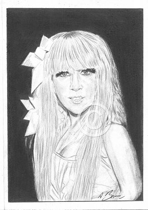 Lady Gaga Pencil Portrait