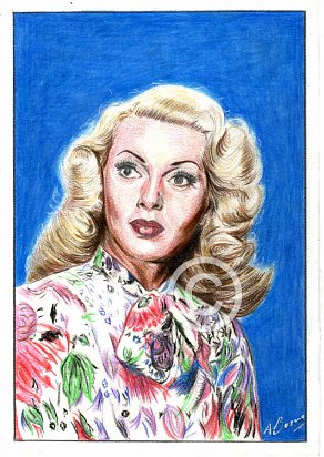 Lana Turner Pencil Portrait