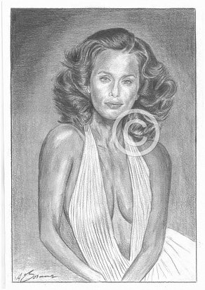 Lauren Hutton Pencil Portrait