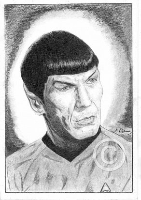 Leonard Nimoy Pencil Portrait