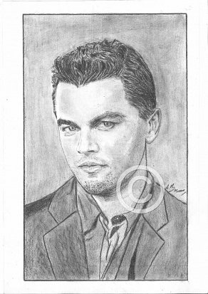 Leonardo DiCaprio Pencil Portrait