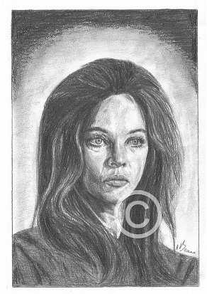 Leslie Caron Pencil Portrait