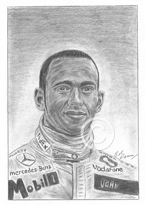 Lewis Hamilton Pencil Portrait