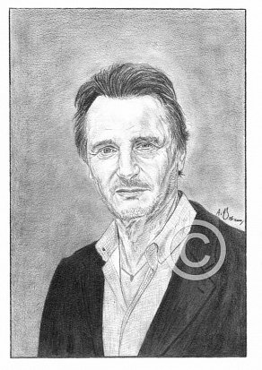 Liam Neeson Pencil Portrait