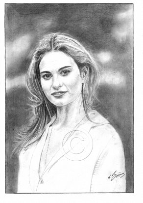 Lily James Pencil Portrait