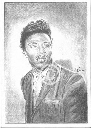 Little Richard Pencil Portrait