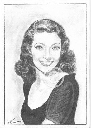 Loretta Young Pencil Portrait