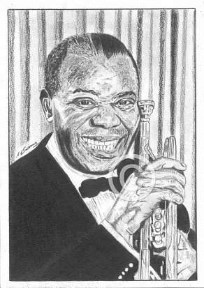 Louis Armstrong Pencil Portrait