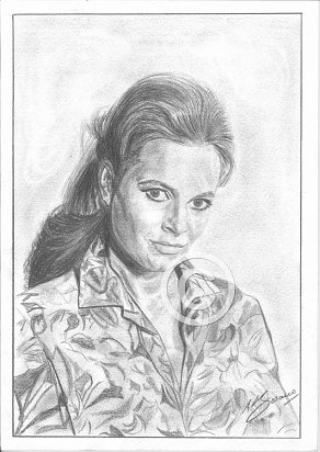 Luzianna Paluzzi Pencil Portrait