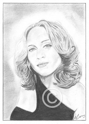 Madonna Pencil Portrait