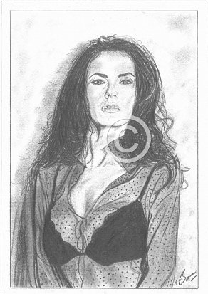 Maria Grazia Cucinotta Pencil Portrait
