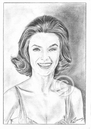 Maria Perschy Pencil Portrait