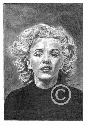 Marilyn Monroe Pencil Portrait