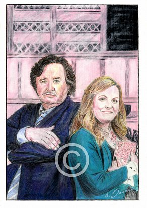 Mark Benton & Jo Joyner Pencil Portrait