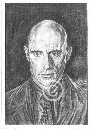 Mark Strong Pencil Portrait