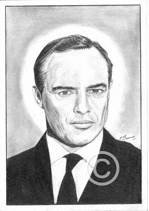Marlon Brando Pencil Portrait