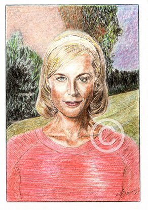 Marta Dusseldorp Pencil Portrait