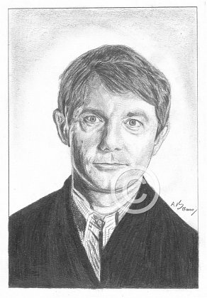 Martin Freeman Pencil Portrait