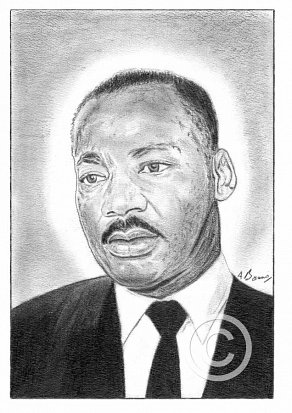 Dr Martin Luther King Pencil Portrait