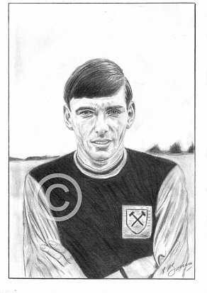 Martin Peters Pencil Portrait