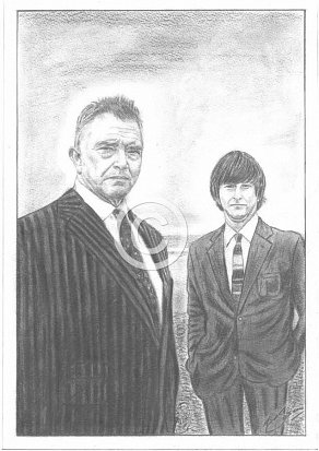 Martin Shaw & Lee Ingleby Pencil Portrait