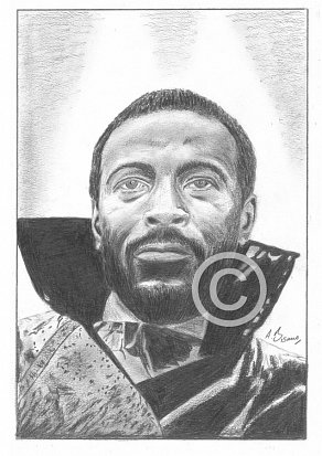 Marvin Gaye Pencil Portrait