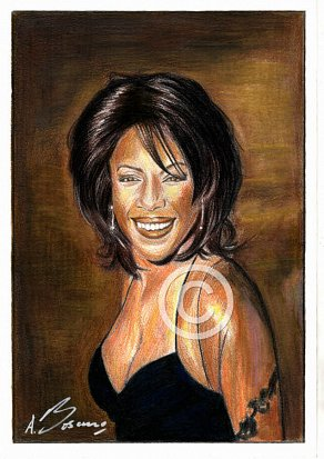 Mary Wilson Pencil Portrait