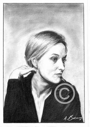 Meryl Streep Pencil Portrait