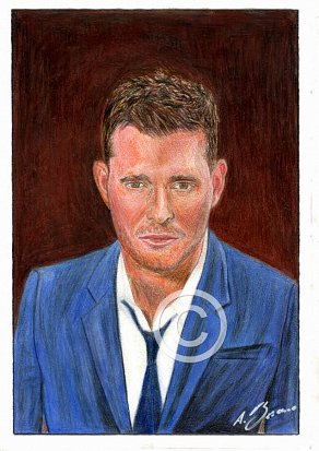 Michael Bublé Pencil Portrait