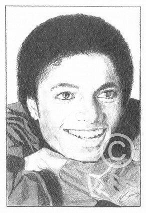 Michael Jackson Pencil Portrait
