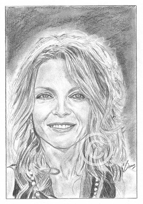 Michelle Pfeiffer Pencil Portrait