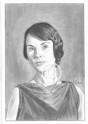 Michelle Dockery Pencil Portrait