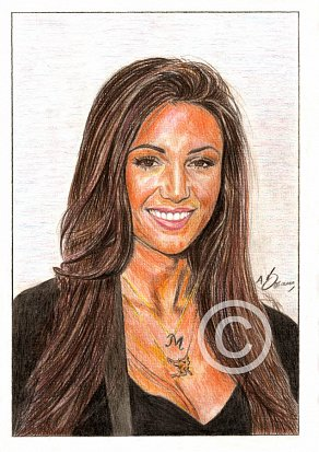 Michelle Keegan Pencil Portrait