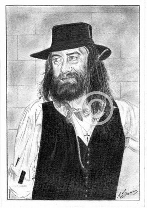 Mick Fleetwood Pencil Portrait