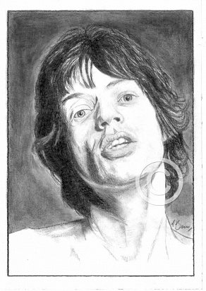 Mick Jagger Pencil Portrait