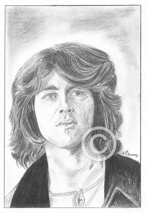 Mick Taylor Pencil Portrait