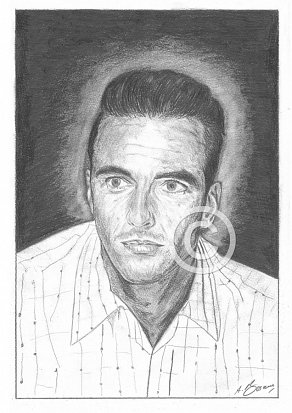 Montgomery Clift Pencil Portrait
